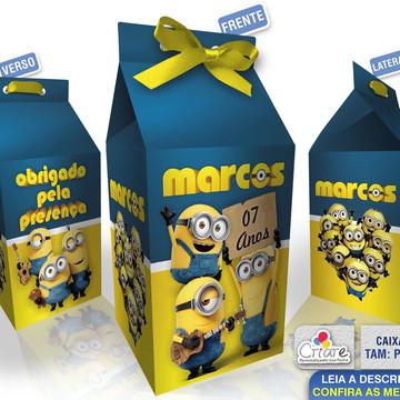 Caixa Milk Pequena - Minions