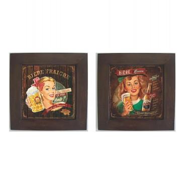 Dupla de Quadros Decorativos Vintage