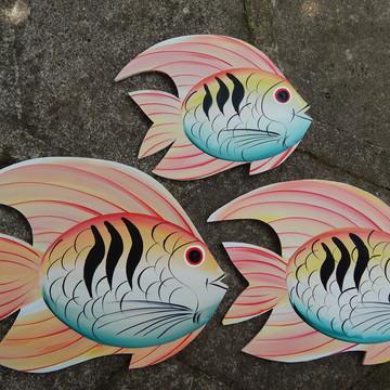 Decoração parede peixe pessego gg1