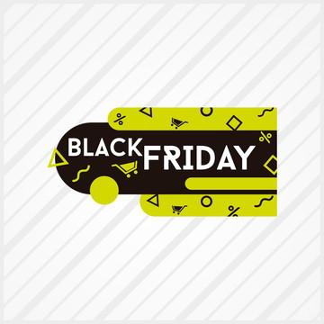 Adesivo Vitrine Black Friday Geométrico