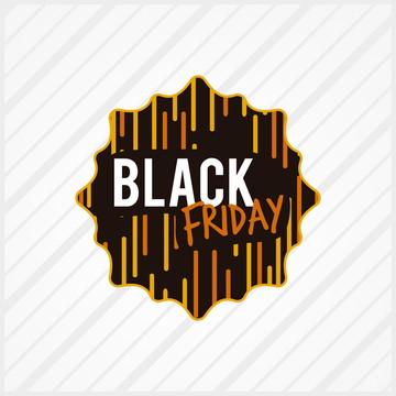 Adesivo de Vitrine Black Friday Listras