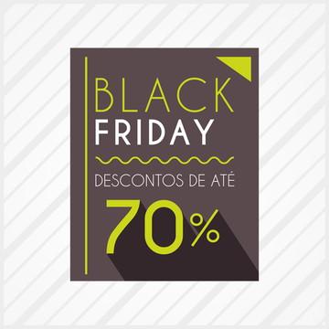 Adesivo de Vitrine Black Friday Neon