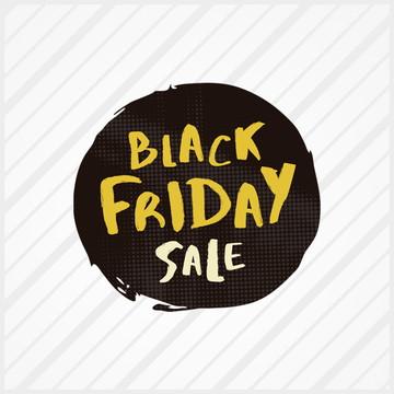 Adesivo de Vitrine Black Friday Pincel