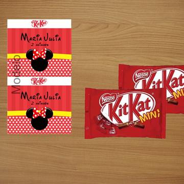 Adesivo mini Kit Kat - Minnie