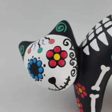 Gato Porta Anel Cav Mex Olho de Flor