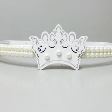 Dossél Quarto bebê Branco Coroa Realeza