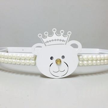 Dossél Quarto bebê Branco Urso Realeza