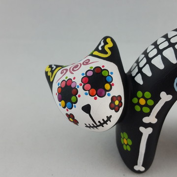 Gato Porta Anel Cav Mex Olhos coloridos