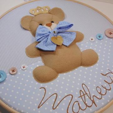 Enfeite de Porta de Maternidade- Urso