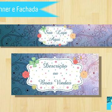 Kit Banner e Fachada Floral Elo 7