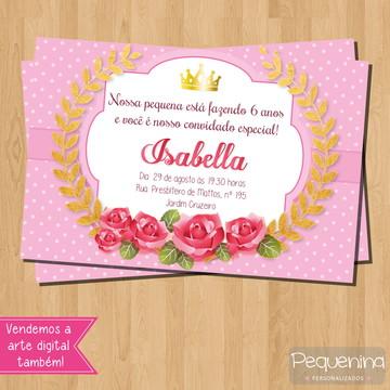Convite - Coroa / Realeza