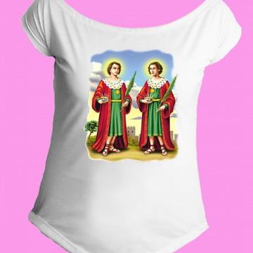 Camiseta Santos Católicos gola canoa 3