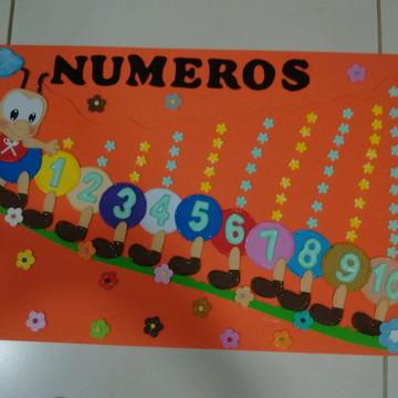 Decoração sala de aula numeros