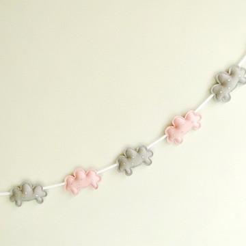 Varal de Nuvens Rosa e Cinza Pink & Grey