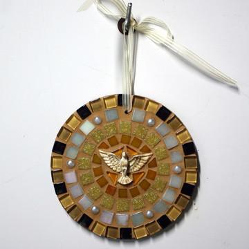 Mandala Divino em mosaico mini terra