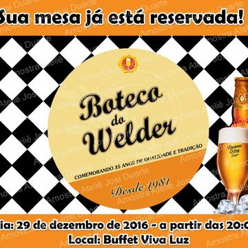 Convite boteco Brahma extra lager