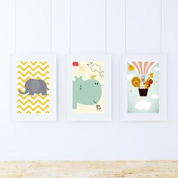 Kit quadrinhos para decoração infantil