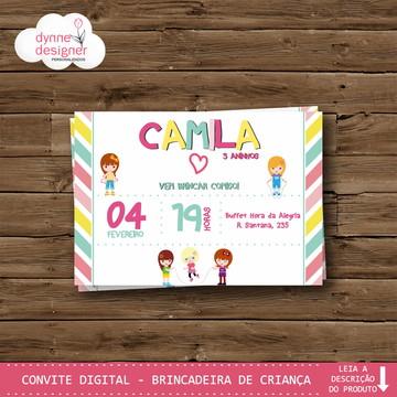 Convite Digital - Brincadeira de Criança