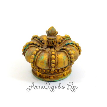 Decoração Coroa Napoleão pequena-DOURADA