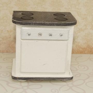 Mini fogão de mdf branco