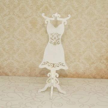 Mini vestido cabideiro de mdf branco