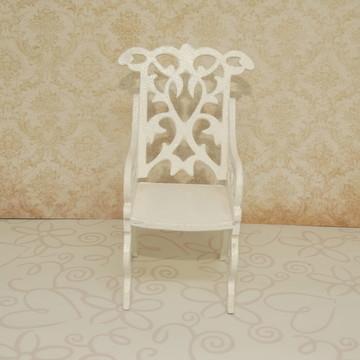 Mini cadeira provençal de mdf branca