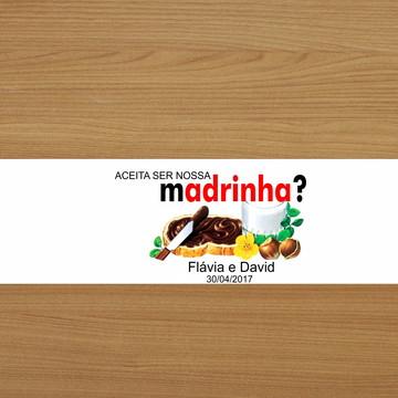 Adesivo Nutella 140g - madrinha
