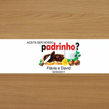 Adesivo Nutella 140g - padrinho
