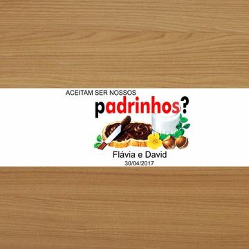 Adesivo Nutella 140g - Padrinhos