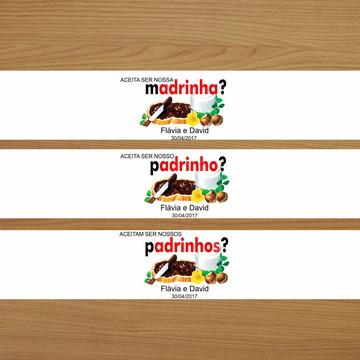 Adesivo Nutella 140g - Kit