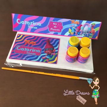 Kit de Pintura (Tela+ 4Guaches + Pincel)