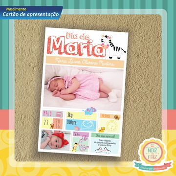 Cartão de Apresentação Aviso Nascimento