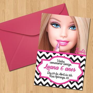 Convite - Tema Barbie