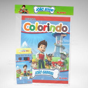 Kit Colorir Patrulha Canina + Brindes