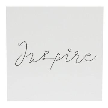 Placa em MDF com escrita INSPIRE
