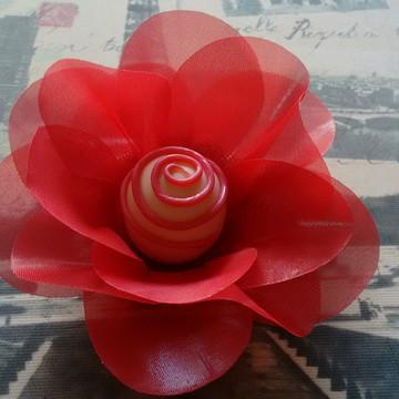 Forminha Flor de Tecido Voal