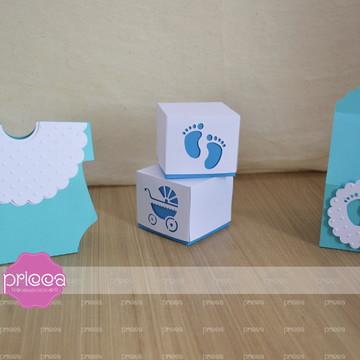 #0194 : Kit digital Chá de Bebê Blue - Arquivo Corte