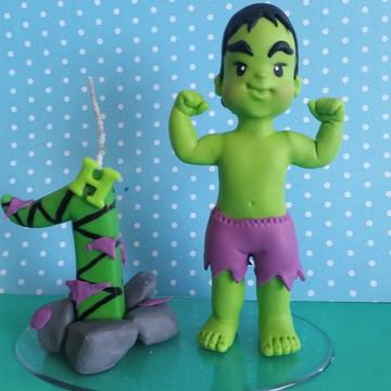 Topo para Bolo Menino Hulk