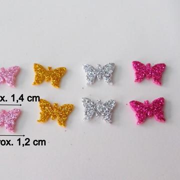 Aplique borboleta em EVA glitter