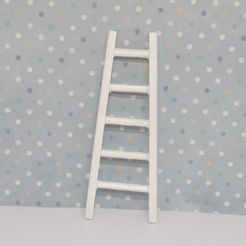 Mini escada de mdf branca