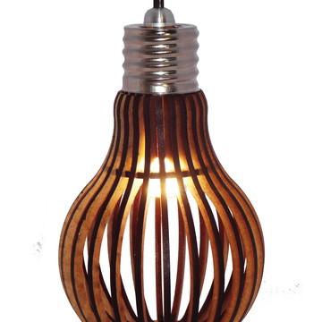Lustre Forma de Lampada Retrô LED