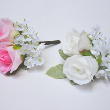 FLOR DE LAPELA DOUBLE ROSE