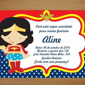 Convite Personalizado 10x15 - Mulher M.