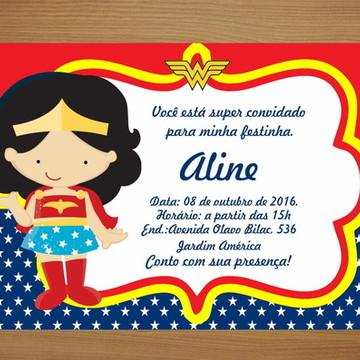 Convite Personalizado 10x7 - Mulher M.