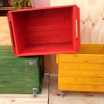 caixote de brinquedo com rodinha rodizio, Promoção