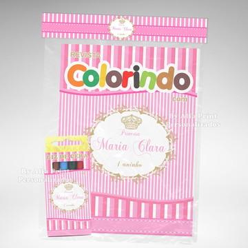 Kit Colorir Princesa Provençal + Brindes