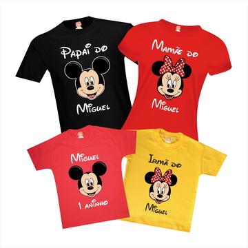 Camisetas de Aniversário Mickey e Minnie