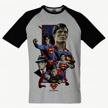 Camiseta Raglan Swag Super-Homem Geek