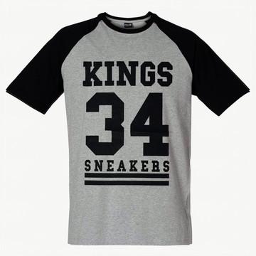 Camiseta Raglan Camisa Kings 34 Swag