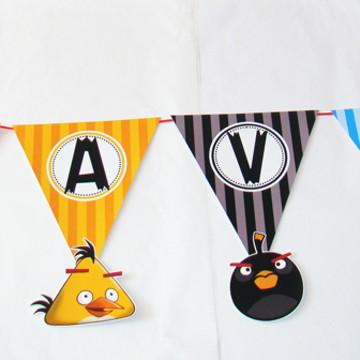 """Bandeirolas """"Angry Birds"""""""